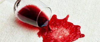как вывести пятно от красного вина