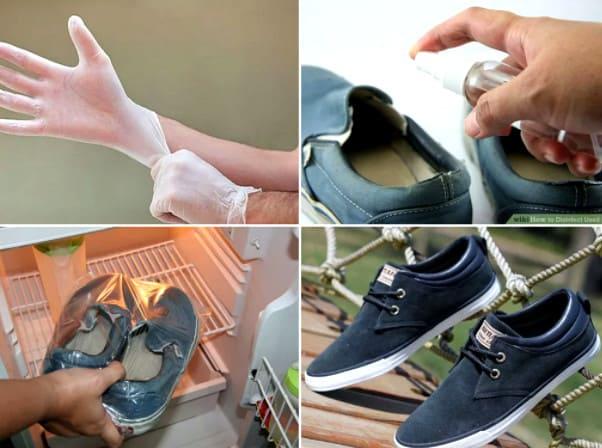 как убрать запах от обуви быстро