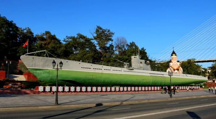 Владивосток достопримечательность подводная лодка
