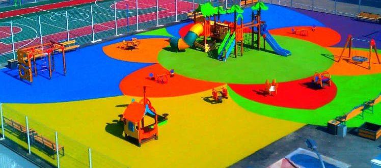 резиновое покрытие детских и спортивных площадо